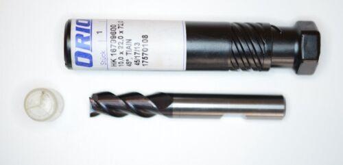 Hartmetall TiAlN beschichtet ORION 10,0 mm VHM Z3 Fräser Schaftfräser
