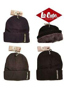 Lee Cooper Bonnet homme double à l'intérieur chaude  proposé en 3 couleurs