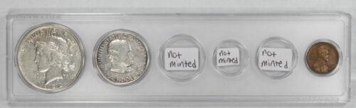 YSG1922 1922 BIRTH YEAR COIN SET AVG CIRC $1 50C 1C GRANT COMMEMORATIVE 3 COINS