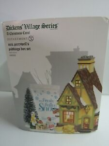 Dept-56-Dickens-039-Village-Mrs-Perrywell-039-s-Puddings-6003093-Set-of-4