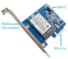 mSATA 3 III SSD & SATA 3 III to PCI-E PC Expansion Card Adapter Converter Board