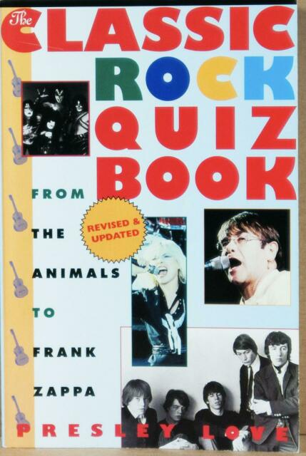 Dealer Dave MUSIC: CLASSIC ROCK QUIZ BOOK, FROM ANIMALS TO ZAPPA, 2000