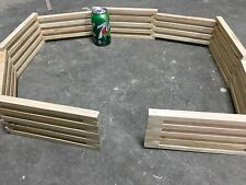 "Wooden Toy Fence, wooden corral 4.5""high 77""long"
