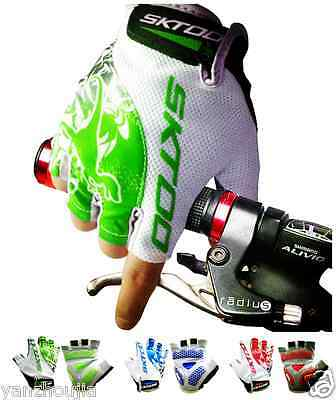 New Bike Half Finger Cycling Gloves Fingerless Sports Racing Gel Short Gloves