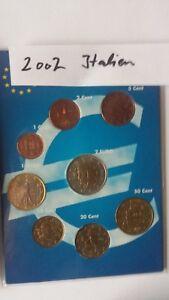 Euromünzen Italien 2002 von 1 Cent - 2 Euro komplett, 8 Münzen als KMS, selten - Kierspe, Deutschland - Euromünzen Italien 2002 von 1 Cent - 2 Euro komplett, 8 Münzen als KMS, selten - Kierspe, Deutschland