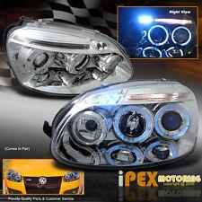 VW 2006-2008 MK5 MK-V Jetta/Golf/Rabbit Halo LED Projector Head Light Lamp