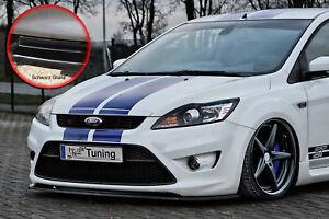 Spoilerschwert-Frontspoiler-ABS-Ford-Focus-ST-DA3-MK2-07-10-ABE-schwarz-glaenzend