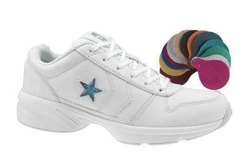 NEW CONVERSE DISMOUNT 2 OX CHEER SHOE 508474 WHITE W  COLOR INSERTS SIZE 10.5