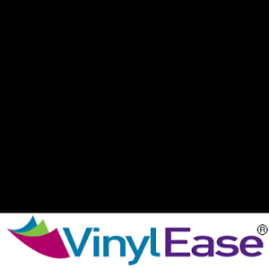 One 12 in x 40 ft Roll Glossy Black Permanent Craft and Sign Vinyl V0429