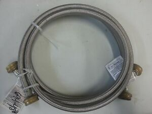 3 4 in x 3 4 in x 5 ft stainless steel washing machine hoses 2 pack ebay. Black Bedroom Furniture Sets. Home Design Ideas