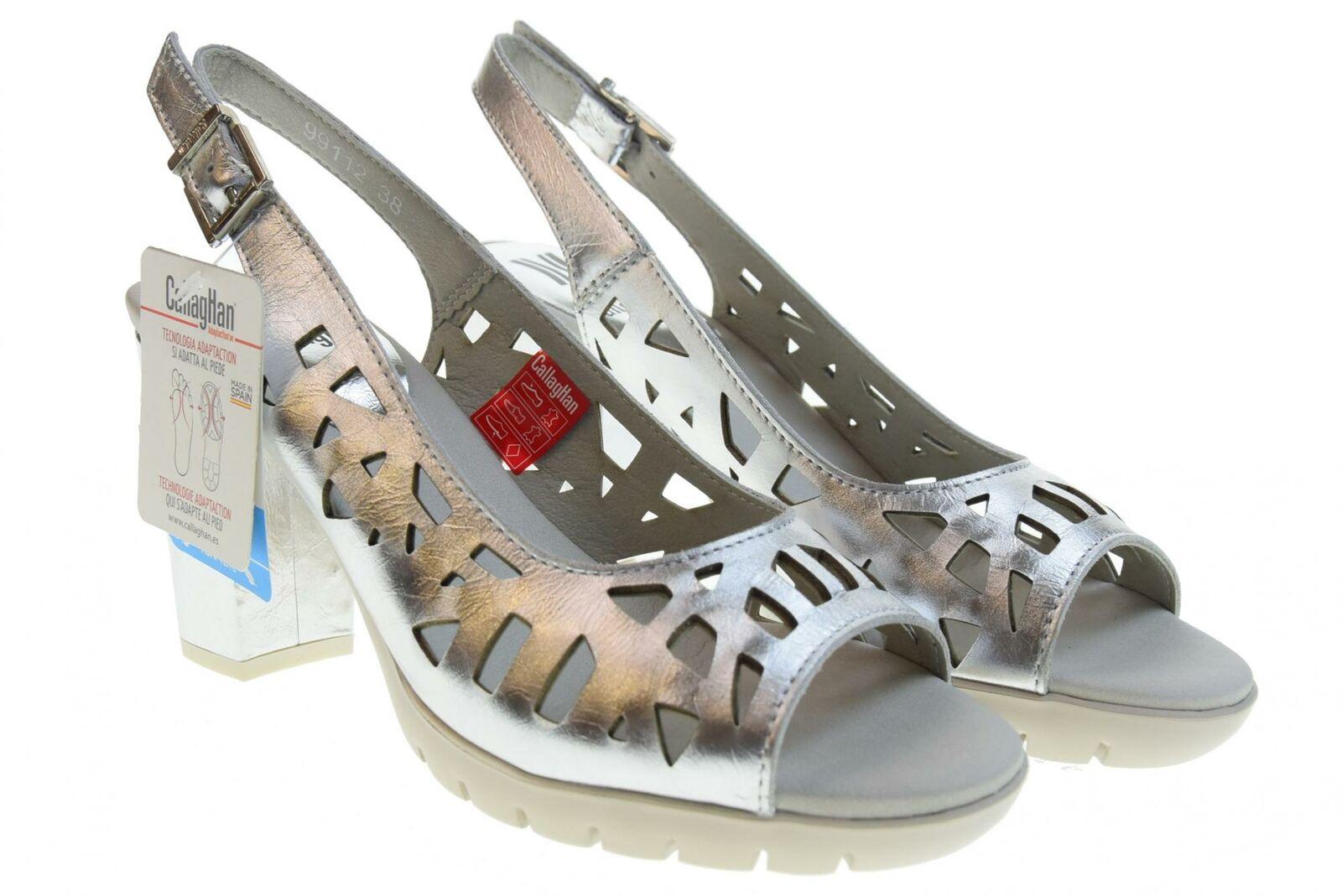Callaghan P19g Schuhe Frau pumpt Ausschnitt 99112 SILBER