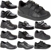 NEW BOYS INFANT KIDS STRAP PARTY FORMAL BACK TO SCHOOL SHOES TRAINERS BOOTS SIZE