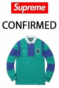 6e277fe3e23 Image is loading Supreme-x-Playboy-Rugby-Polo-ORDER-CONFIRMED