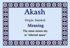 Akash Personalised Name Meaning Certificate