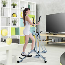 Cross Trainer Air Walker Glider Home Gym Fitness Workout Machine w/ LCD Display