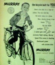 1958 Murray Boys Bikes~SPEED-WEIGHT~Bicycle Memorabilia Promo Trade Print Art AD