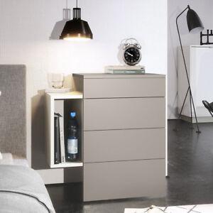 Dettagli su Comodino moderno Regina B | Mobile per camera da letto