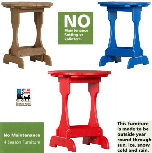 All Weather Outdoor Maintenace Free Vinyl Candy Stand USA 4 SEASON WHITE TABLE