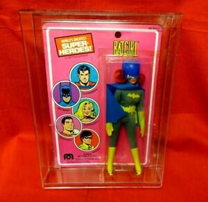 Vintage Mego: Wgsh 1977 Batgirl Moc avec vitrine