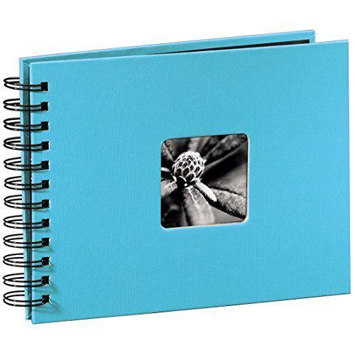 Hama Fotoalbum Spiralalbum türkis 50 schwarze Seiten 50 Fotos 24x17 Album Bilder