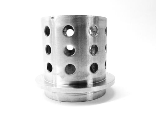 """Perforated Flask 3-1//2/"""" x 4/"""" Casting Flask Vacuum Casting Stainless 1//8/"""" Wall"""
