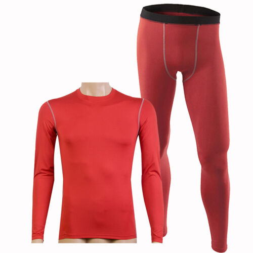 Men/'s Compression Thermal Base Layer Tights Jersey T-shirts Tops Pants Trousers