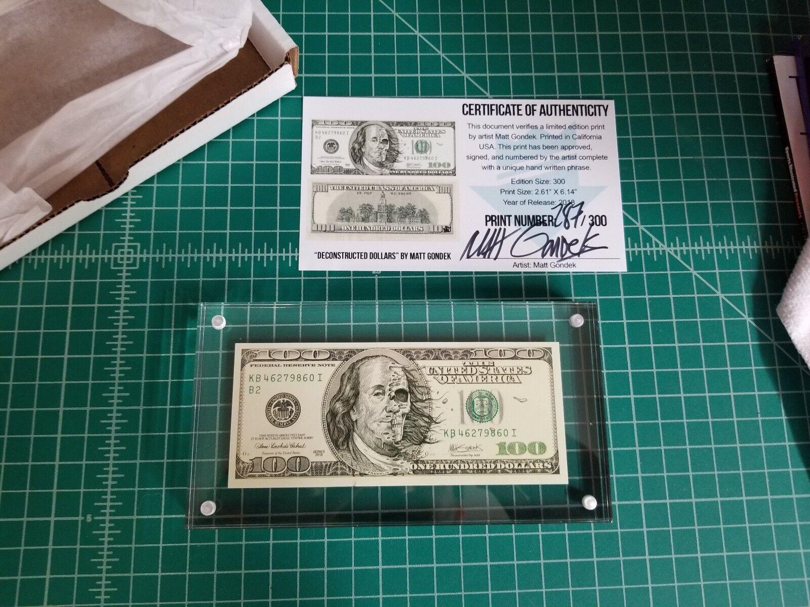 IN-HAND Matt Gondek Deconstructed Dollars 100 Mini Print Complexcon Exclusive