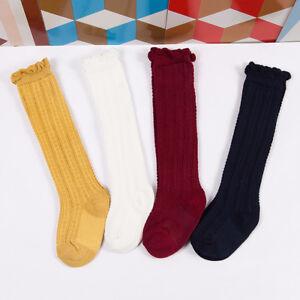 Newborn-Toddler-knee-high-sock-baby-Girls-Boys-Solid-Long-Socks-Accessories-IY