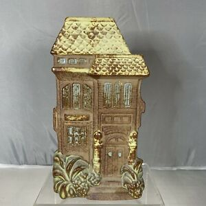 Vintage-Counterpoint-Pottery-Victorian-House-Wall-Pocket-Bud-Vase-Planter-Japan