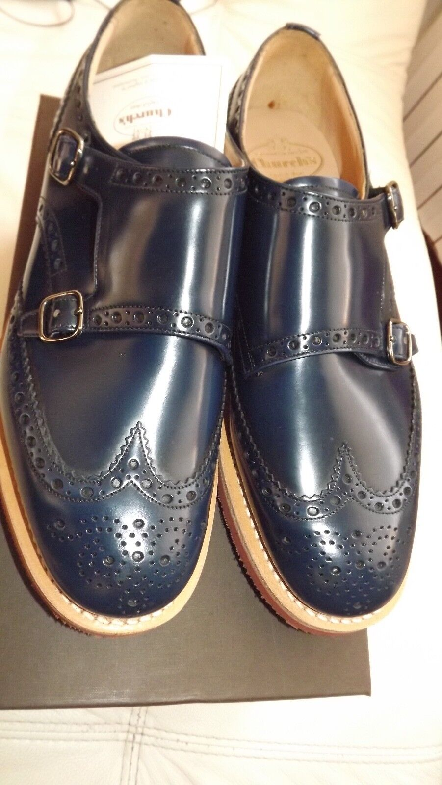 Church's London scarpe New Collection blu Leather Authentic 530,00  Cartel.40  scelte con prezzo basso
