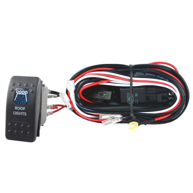 40a Wiring Harness Kit Led Light Rocker Switch Toggle