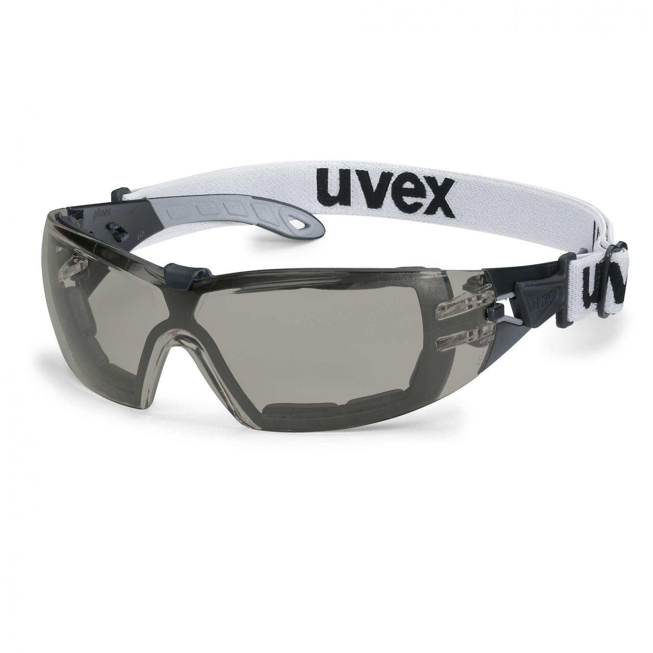 ... Uvex Pheos Garde Sv Extrême Lunettes de Transparent Sécurité Casque  Transparent de Verre Fumé f4801b ... 615dc07c2598