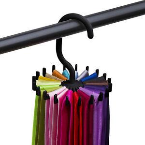 Rotating-Tie-Rack-Adjustable-Tie-Hanger-Holds-20-Neck-Ties-Tie-Organizer-Men-UK