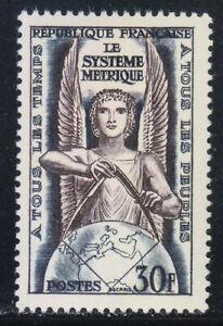 France-1954-MNH-Mi-1024-Sc-732-Allegory-Metric-system
