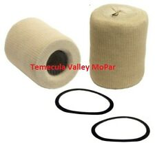 """Set of (2 """"Sock-Type"""" Oil Filter Cartridges for 1936-1953 Dodge & Plymouth Truck"""