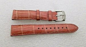 Genuine-Michele-18mm-Pink-Alligator-Watch-Band-Strap-Pre-Owned