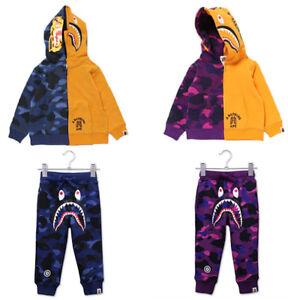 Fashion Tige Head Camo Shark Kids Long Sleeve Jacket Sweatshirts