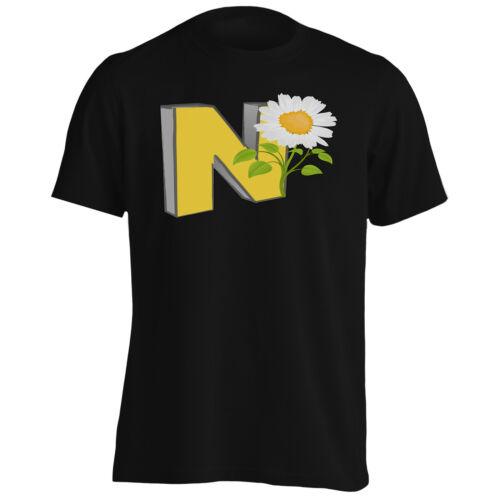 Lettre N Vintage Fleur Tee-Shirt Homme//Tank Top p428m