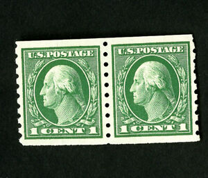 US-Stamps-412-XF-Fresh-Pair-OG-NH-Catalog-Value-130-00