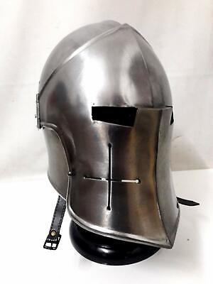 Medieval Barbuta Helmet Knights Templar Crusader Armour Helmet SCA WITH EXP.SHIP