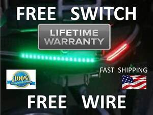 Boat Bow LED Navigation Kit Universal Marine Red and Green Safety LIGHTS