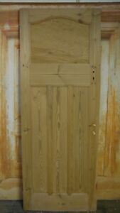 AT07-29-3-4-x-79-1930-039-s-Edwardian-Old-Arched-Topped-Stripped-Solid-Pine-Door