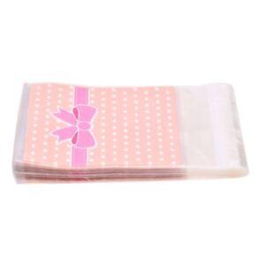 100-X-Rose-N-ud-Papillon-Sac-Sachet-Pochette-De-Bonbons-Biscuit-S4C3
