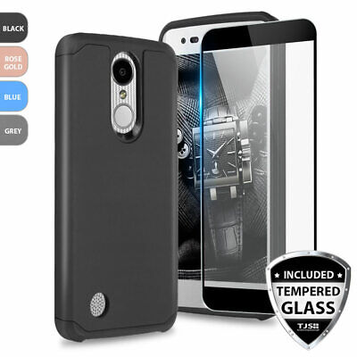 For LG Aristo 2/3/Plus/Phoenix 4 Shockproof Rubber Phone Case+Tempered  Glass | eBay