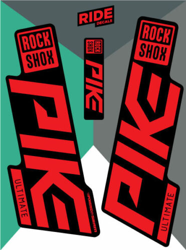 Enduro Rockshox Pike Ultimate 2019-2020 Sticker Decal Sets DH Red