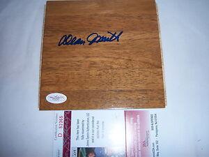 DEAN SMITH NORTH CAROLINA TARHEELS JSA/COA SIGNED 6X6 FLOORBOARD