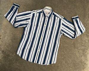 Armani Jeans Homme Vintage Années 90 à Rayures Chemise Manches Longues Taille M Nous Prenons Les Clients Comme Nos Dieux