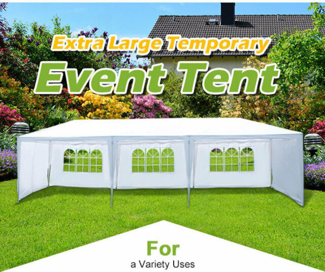 Wedding Party Tent Marquee Gazebo w Sides White Events 3m x 9m Height 2.60m NEW