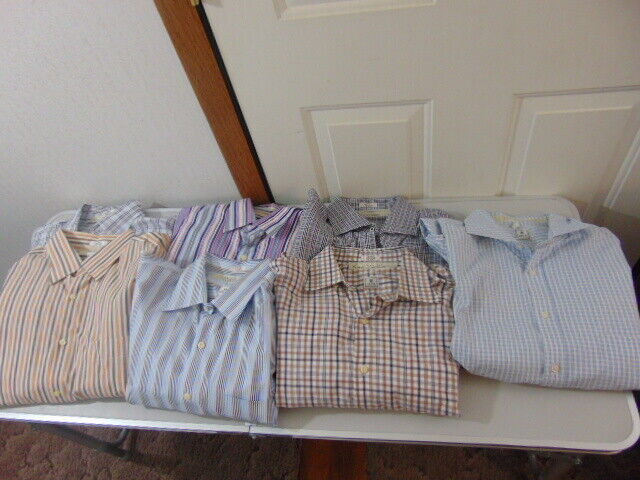Peter Millar Lot of (7) Long Sleeve Button Front Casual Shirts Size Large