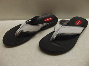 f8966fd4f53c CHILDS OKABASHI SILVER GREY CLOTH THONG FLIP FLOP SANDAL WATER SHOE ...